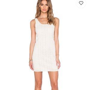 C&C California Dresses - C&C California Lace Tie Back dress in vanilla